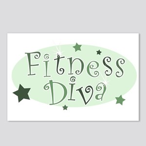 """""""Fitness Diva"""" [green] Postcards (Package of 8)"""
